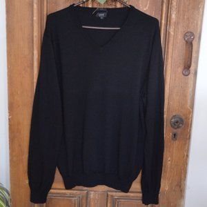 J. Crew Slim Merino Wool Black Sweater Men's XL